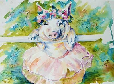 Miss Piggy At The Bar Poster by P Maure Bausch