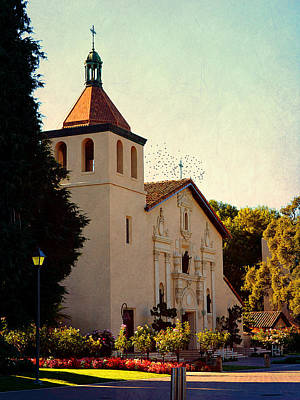 Poster featuring the photograph Mission Santa Clara - California by Glenn McCarthy Art and Photography