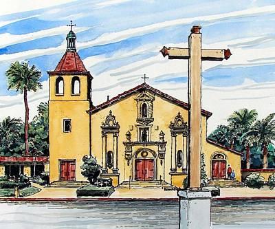 Mission Santa Clara De Asis Poster by Terry Banderas