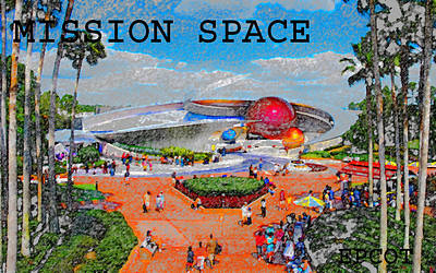 Mission Space Landscape Poster