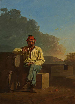 Mississippi Boatman Poster by George Caleb Bingham