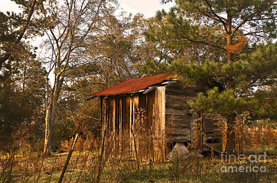 Poster featuring the photograph Mississippi Corn Crib by Tamyra Ayles