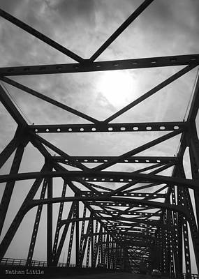 Mississippi River Bridge Poster