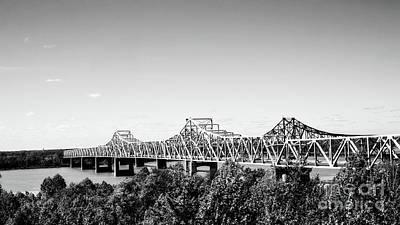 Mississippi River Bridge - Vicksburg Poster by Scott Pellegrin