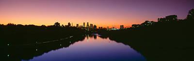 Mississippi River, Minneapolis, Sunset Poster