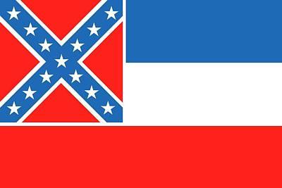 Mississippi State Flag Poster