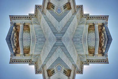 Poster featuring the photograph Missouri Capitol - Abstract by Nikolyn McDonald