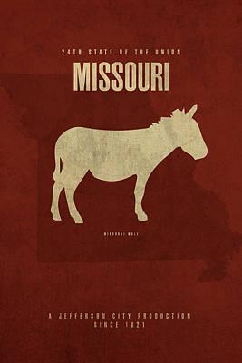 Missouri State Facts Minimalist Movie Poster Art Poster
