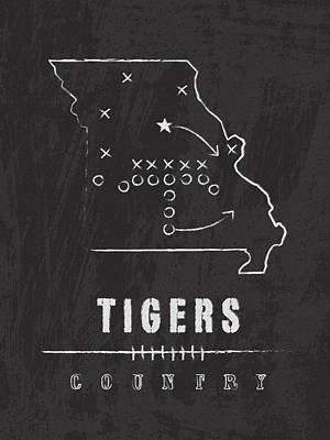 Missouri Tigers Country Poster by Damon Gray