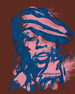 Missy Elliott Pop Stylised Art Sketch Poster Poster by Kim Wang