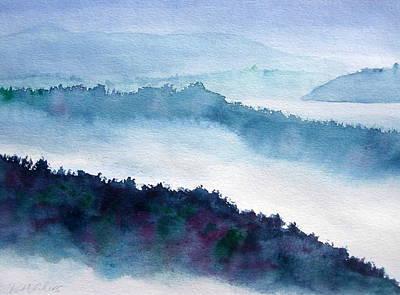 Mist On Howe Sound Poster