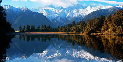 Mist Over Lake Matheson Poster