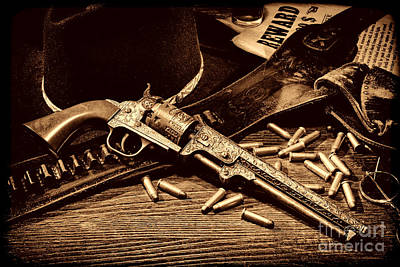 Mister Durant's Revolver Poster by American West Legend By Olivier Le Queinec