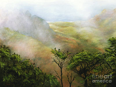 Mists Of Kalalau Poster by Sandra Blazel - Printscapes