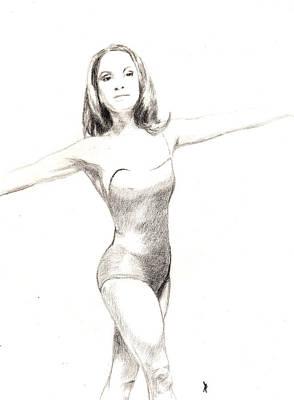 Misty Ballerina Dancer II Poster