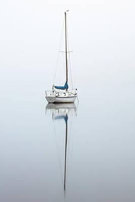 Poster featuring the photograph Misty Boat by Grant Glendinning