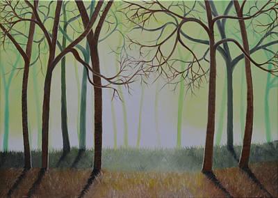 Misty Forest Poster by Sven Fischer