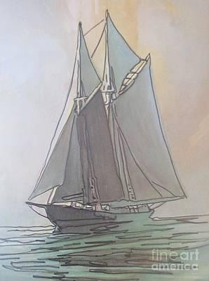 Misty Marine Art Poster by John Malone