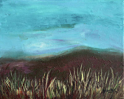 Misty Moors Poster by Donna Blackhall