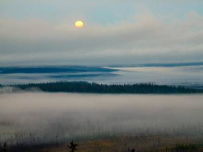 Poster featuring the photograph Misty Morning Along The Jim River by Adam Owen