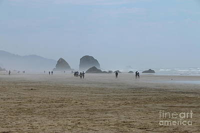 Misty Morning At Cannon Beach Poster by Christiane Schulze Art And Photography