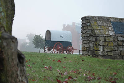 Misty Morning At Fort Smith National Historic Site - Arkansas Poster
