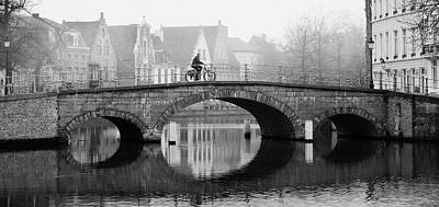 Poster featuring the photograph Misty Morning In Bruges  by Barry O Carroll