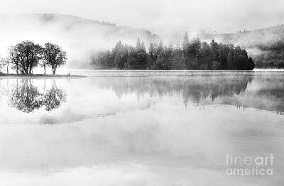 Misty Morning Loch Ard Poster