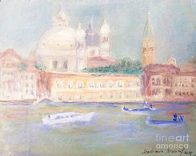 Misty Morning On The Canale Grande Poster by Barbara Anna Knauf