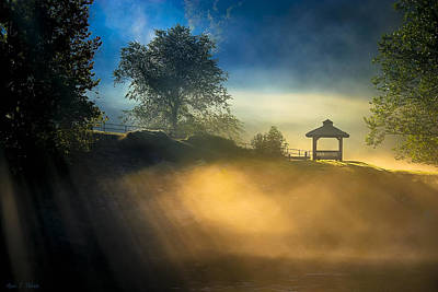 Misty Morning On The Chattahoochee Poster by Mark E Tisdale