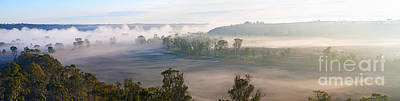 Misty Morning On The Murray Poster