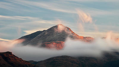 Poster featuring the photograph Misty Mountain by Grant Glendinning