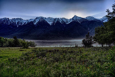 Poster featuring the photograph Misty Mountain Morning Meadow  by Darcy Michaelchuk
