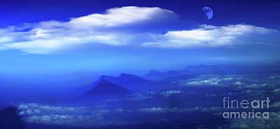 Misty Mountains Of San Salvador Panorama Poster