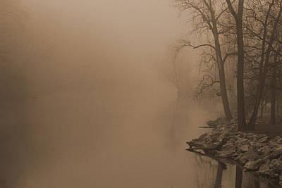 Misty River - Vintage  Poster