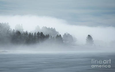 Misty Shores Poster by Idaho Scenic Images Linda Lantzy