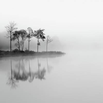 Misty Trees - Loch Ard Poster