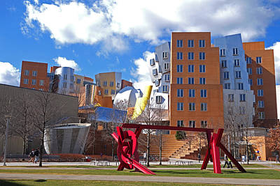 Mit Stata Center Cambridge Ma Kendall Square M.i.t. Sculpture Poster by Toby McGuire