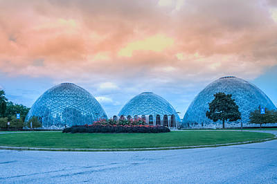 Mitchell Park Conservatory,the Domes Poster by Art Spectrum