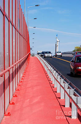 Mitigating Noise Barrier Or Soundwall On Roadway  Poster