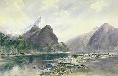 Mitre Peak, Milford Sound Poster by William Hodgkins