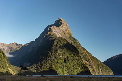 Poster featuring the photograph Mitre Peak Rahotu by Gary Eason