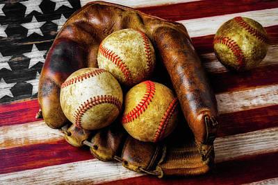Mitt With Three Balls Poster