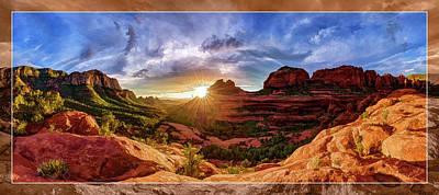 Mitten Ridge Sunset Poster