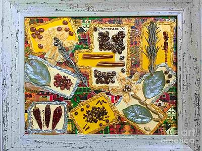 Mixed Media  Kitchen Collage Poster