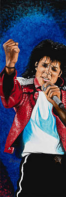 Mj Live Poster by Dino Murphy