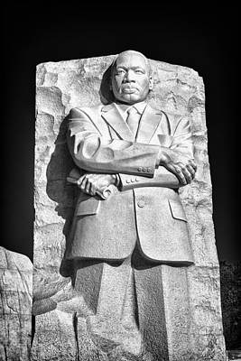 Mlk Memorial In Black And White Poster by Val Black Russian Tourchin