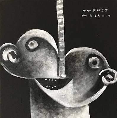 Mmxvii Masks For Despair No 2  Poster by Mark M Mellon