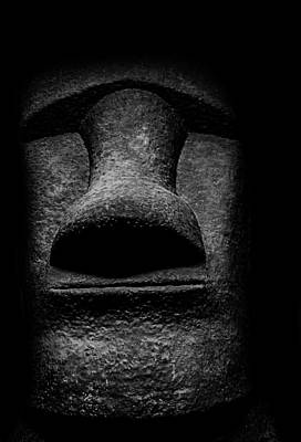 Moai - Easter Island Head Poster by Martin Newman