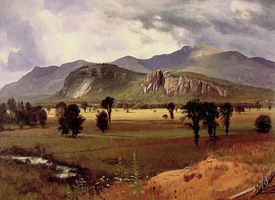 Moat Mountain Intervale New Hampshire Poster by Albert Bierstadt